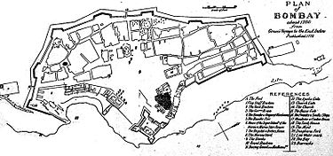 Plan of Bombay 1760